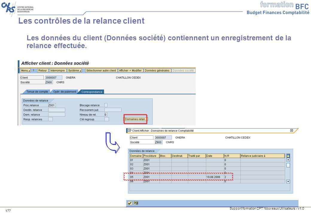 Les contrôles de la relance client
