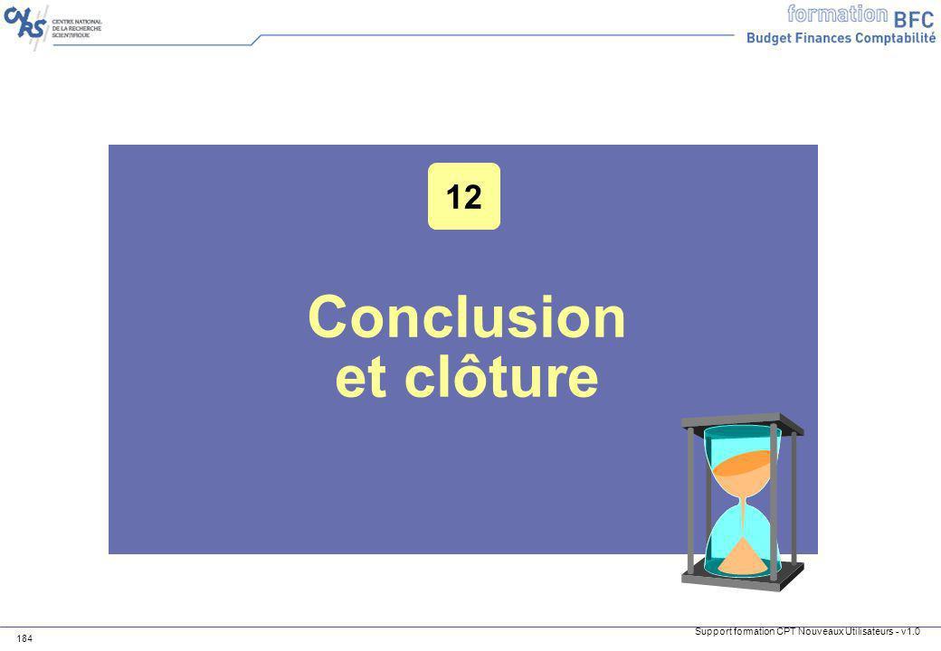 12 Conclusion et clôture