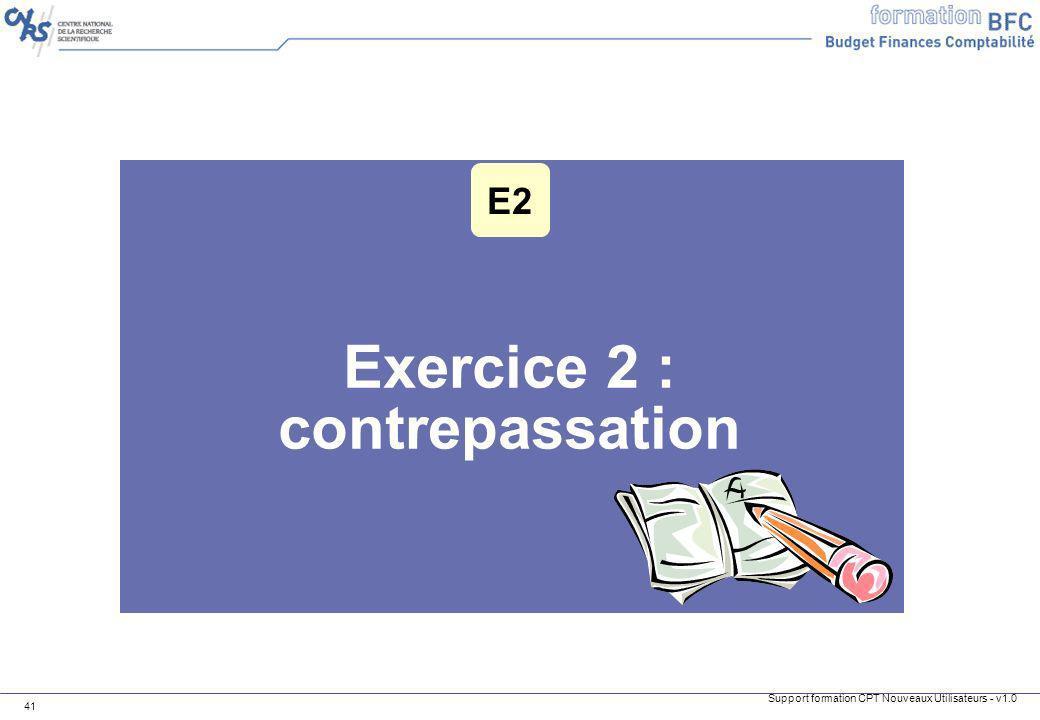 Exercice 2 : contrepassation