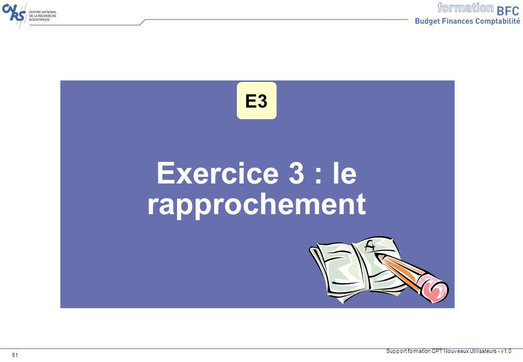 Exercice 3 : le rapprochement