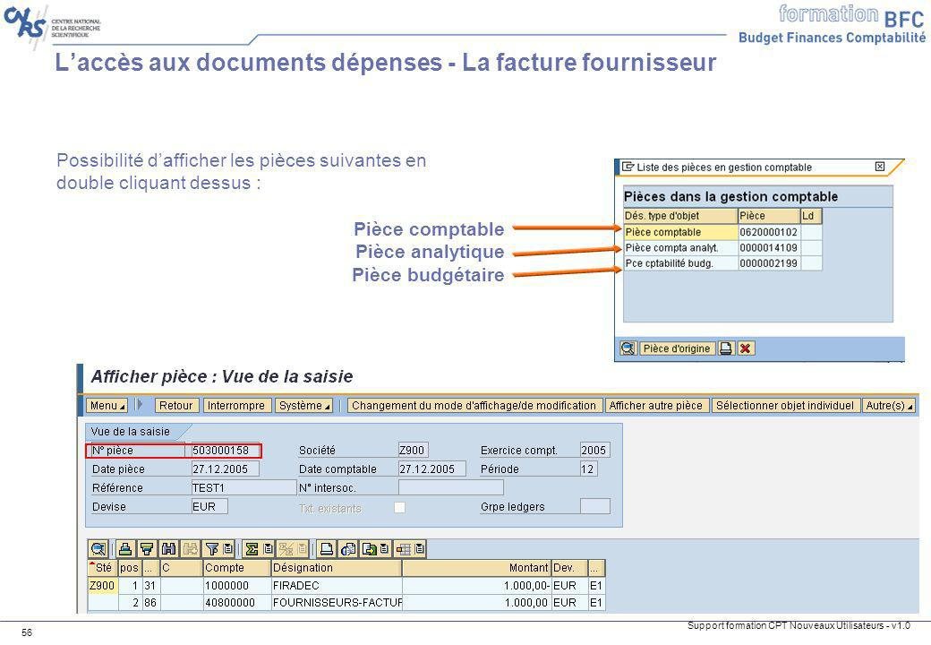 L'accès aux documents dépenses - La facture fournisseur