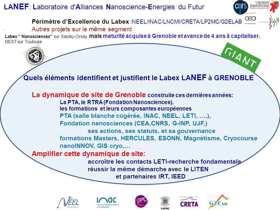 LANEF: Laboratoire d Alliances Nanoscience-Energies du Futur