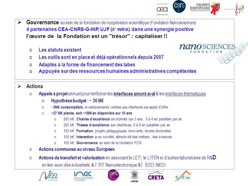 Gouvernance au sein de la fondation de coopération scientifique (Fondation Nanosciences)