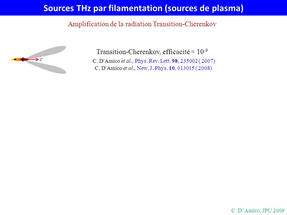 Sources THz par filamentation (sources de plasma)