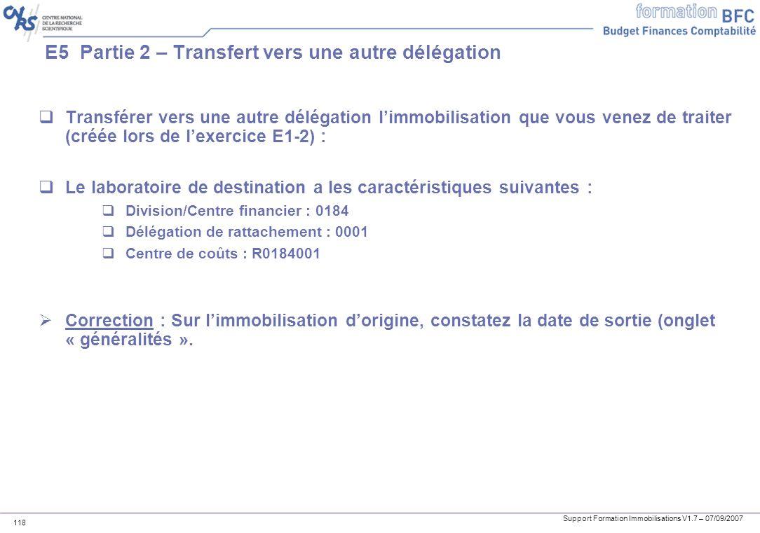 E5 Partie 2 – Transfert vers une autre délégation