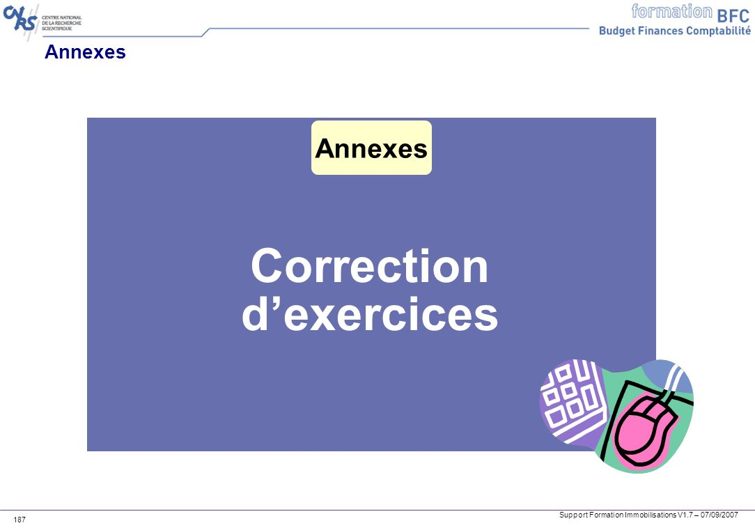 Correction d'exercices