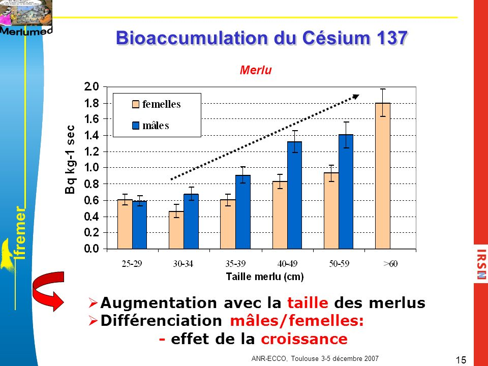 Bioaccumulation du Césium 137