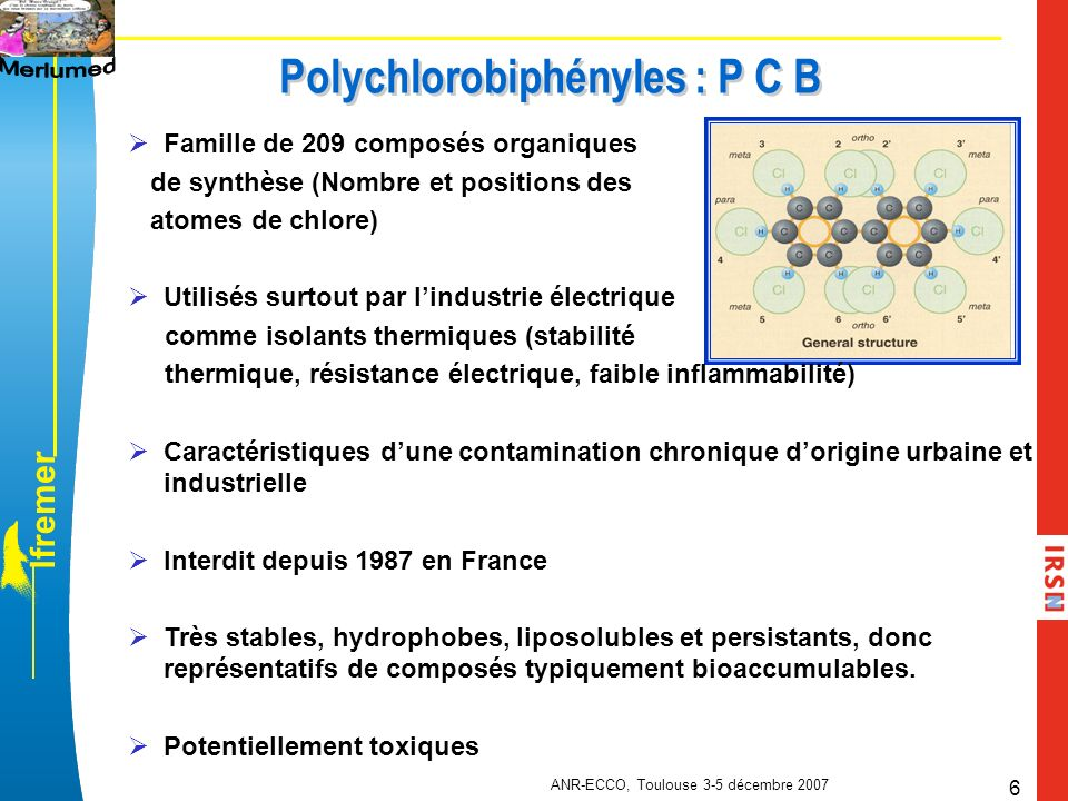 Polychlorobiphényles : P C B