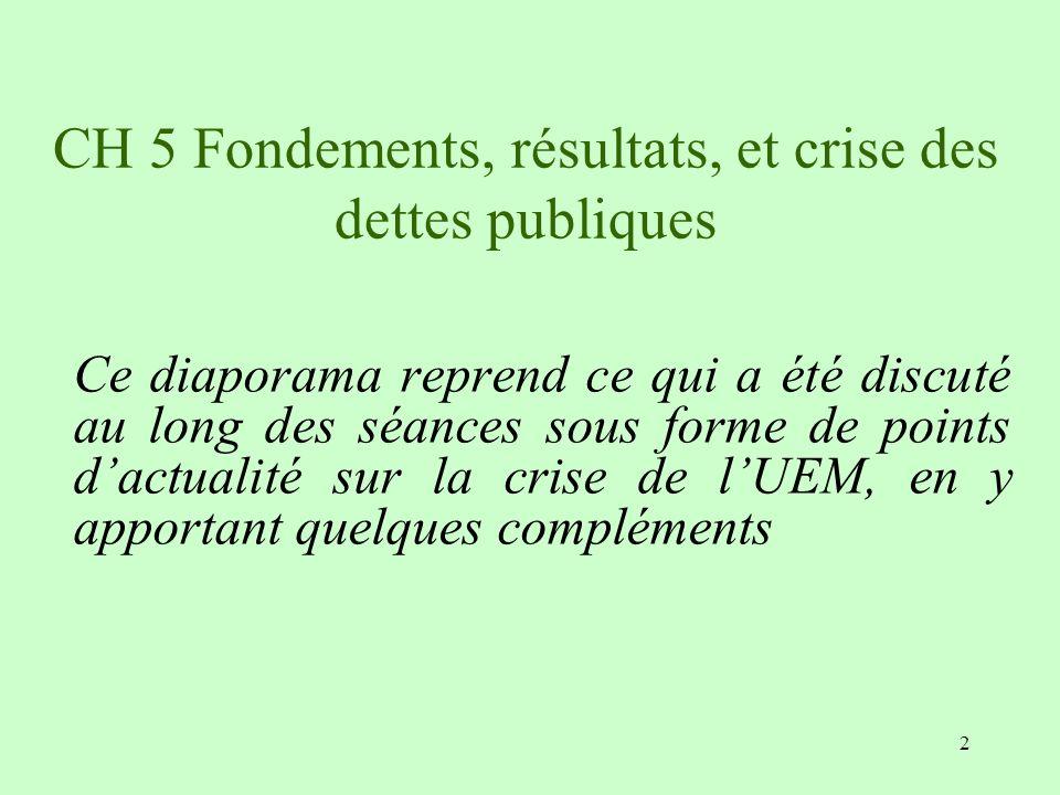 CH 5 Fondements, résultats, et crise des dettes publiques