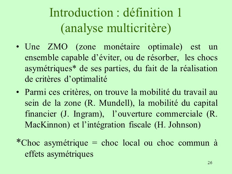 Introduction : définition 1 (analyse multicritère)