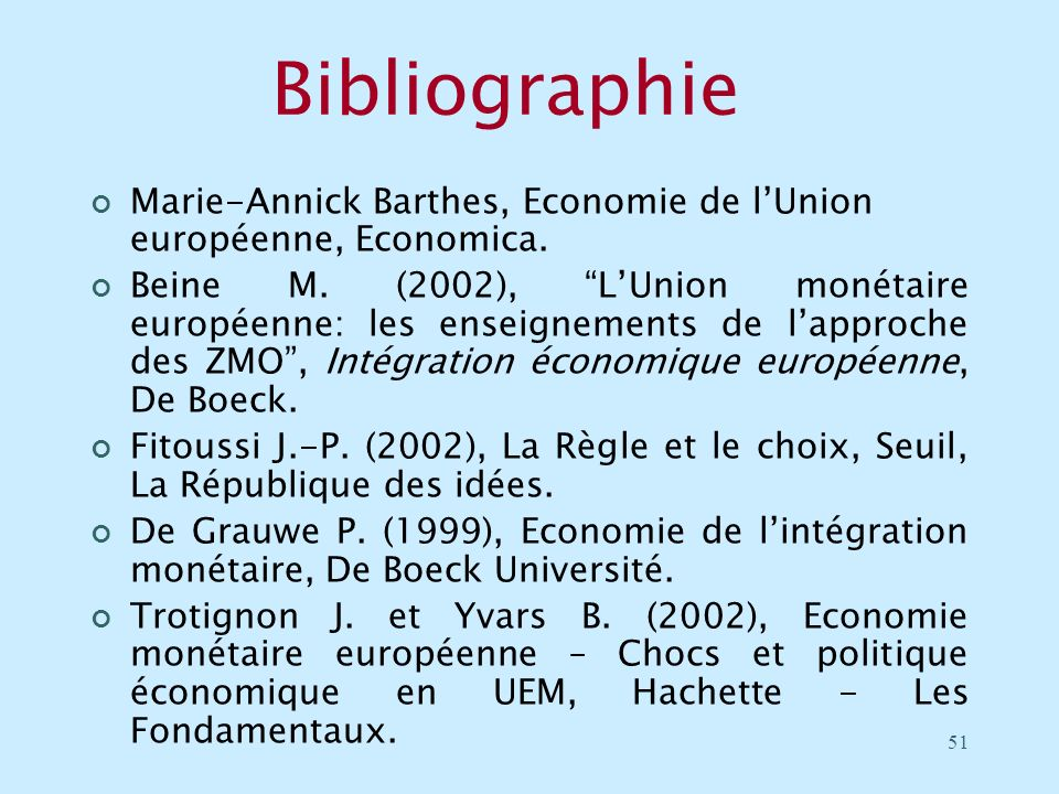 Bibliographie Marie-Annick Barthes, Economie de l'Union européenne, Economica.