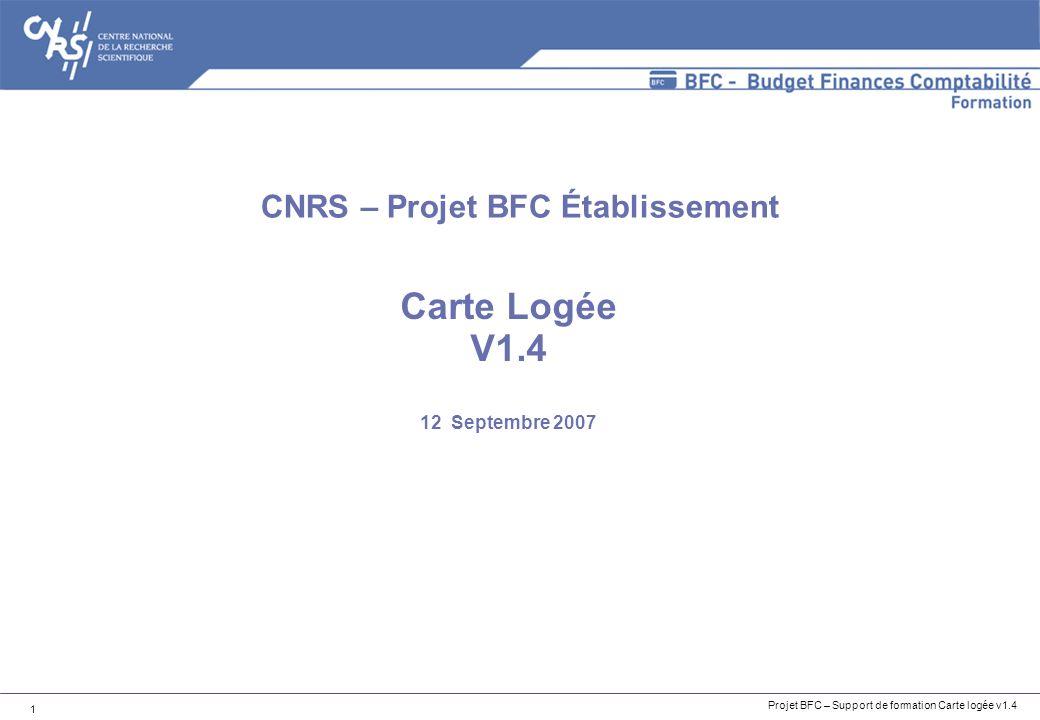 Carte Logée V1.4 12 Septembre 2007