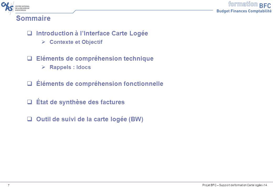 Sommaire Introduction à l'Interface Carte Logée