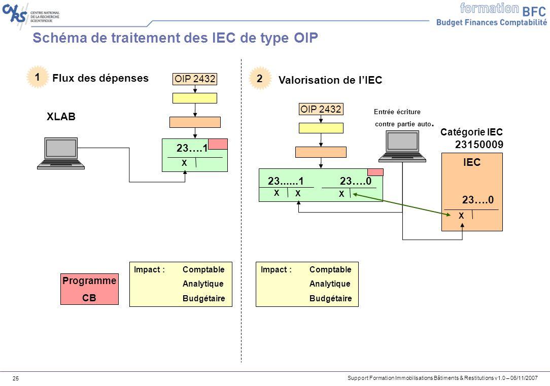 Schéma de traitement des IEC de type OIP