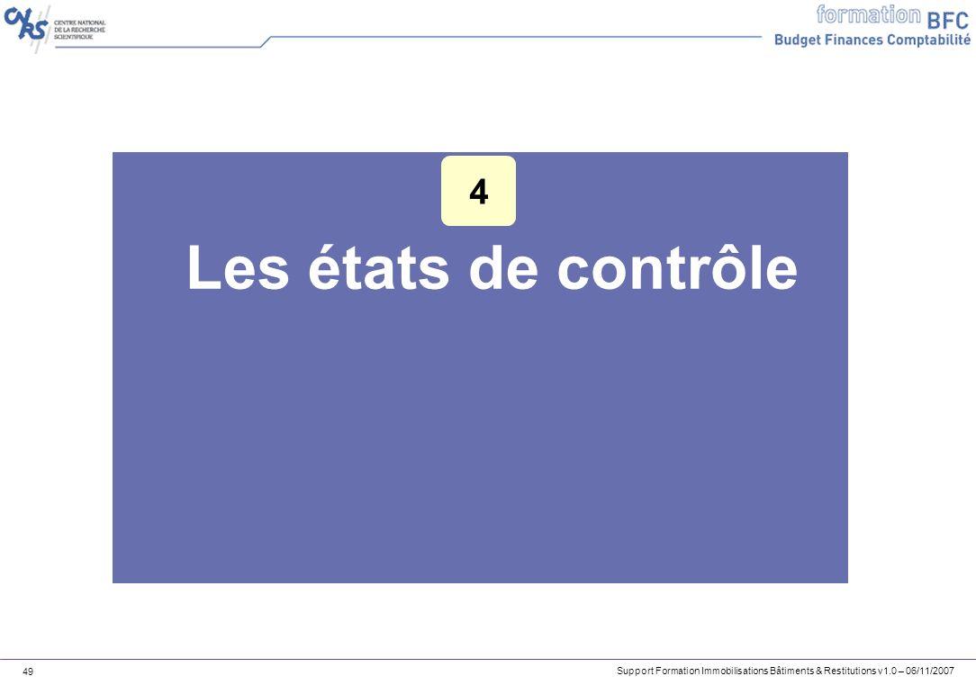 4 Les états de contrôle