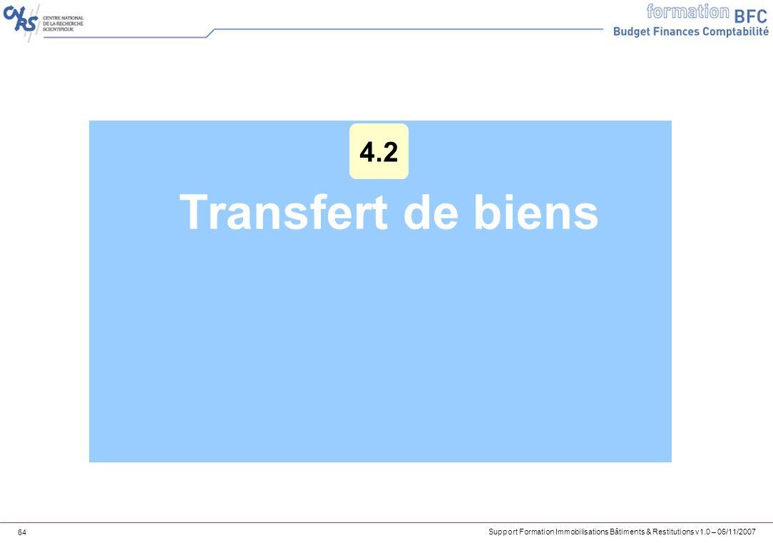 4.2 Transfert de biens