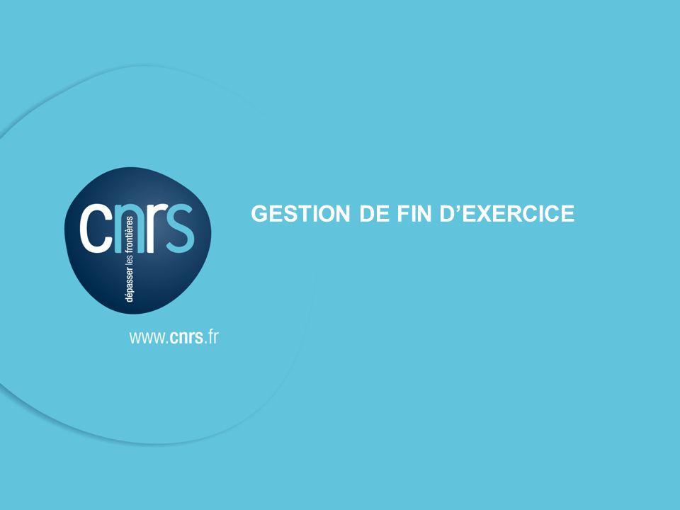 GESTION DE FIN D'EXERCICE