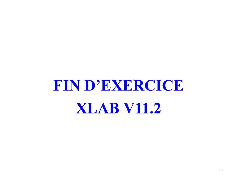 FIN D'EXERCICE XLAB V11.2