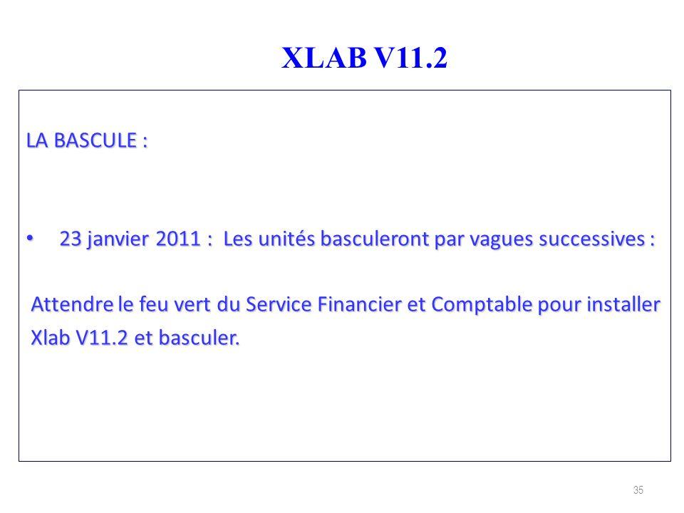 XLAB V11.2 LA BASCULE : 23 janvier 2011 : Les unités basculeront par vagues successives :