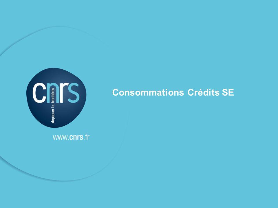 Consommations Crédits SE
