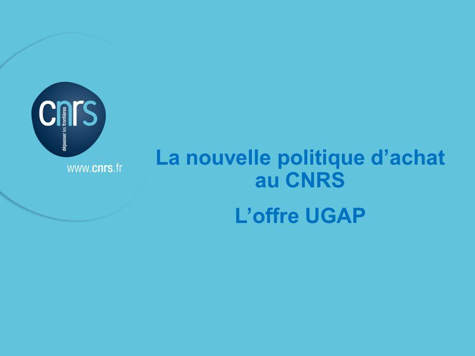 La nouvelle politique d'achat au CNRS