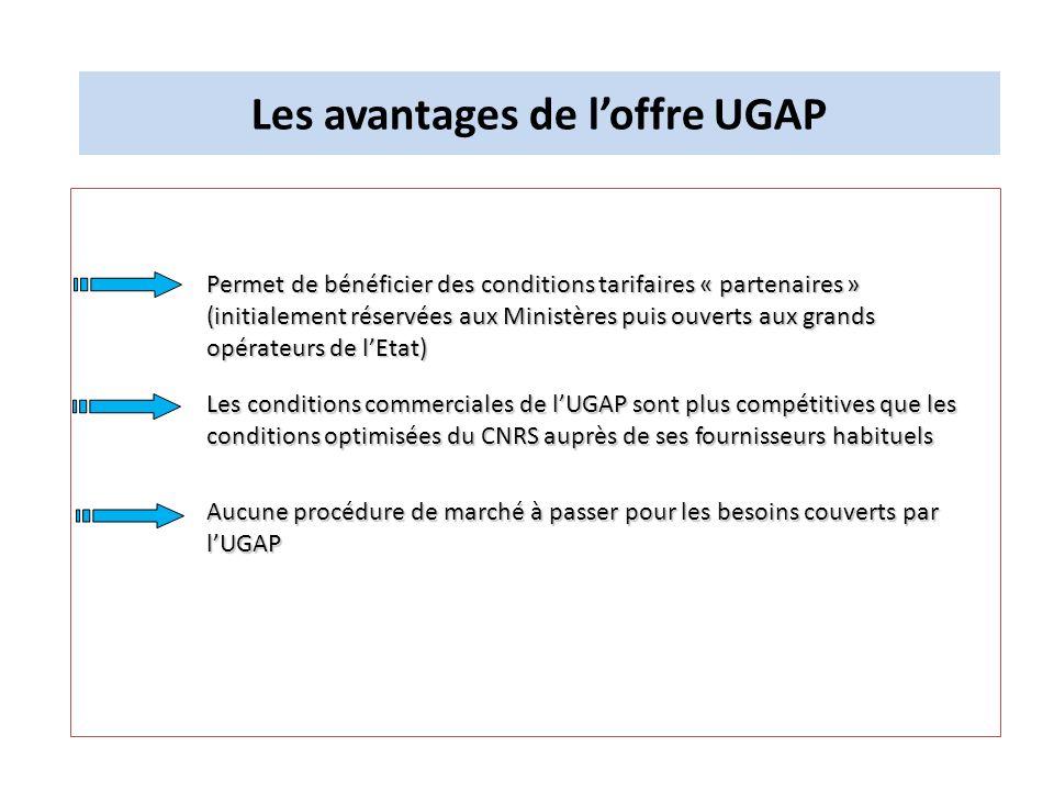 Les avantages de l'offre UGAP