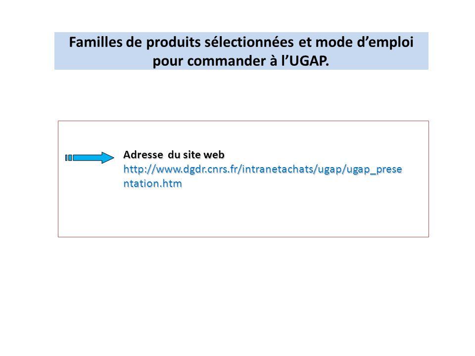 Familles de produits sélectionnées et mode d'emploi pour commander à l'UGAP.