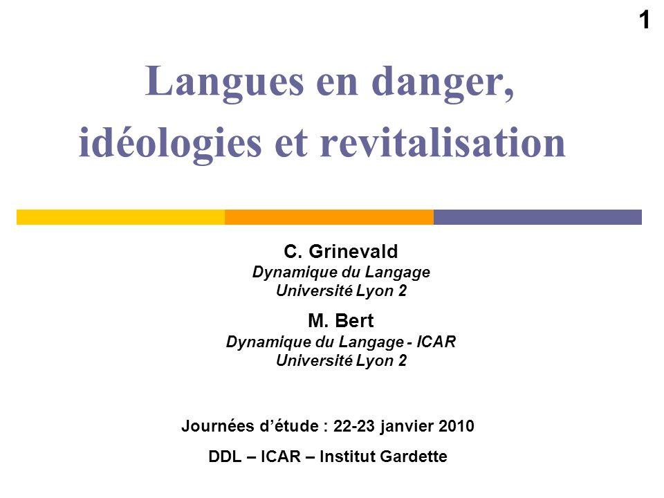 Langues en danger, idéologies et revitalisation
