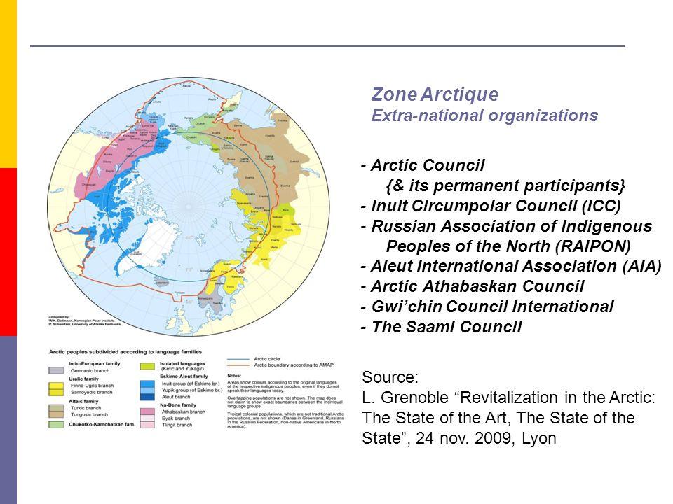 Zone Arctique Extra-national organizations - Arctic Council