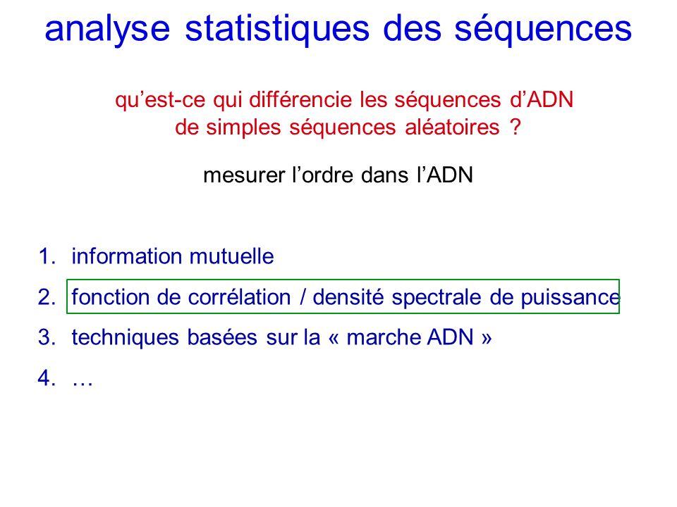analyse statistiques des séquences