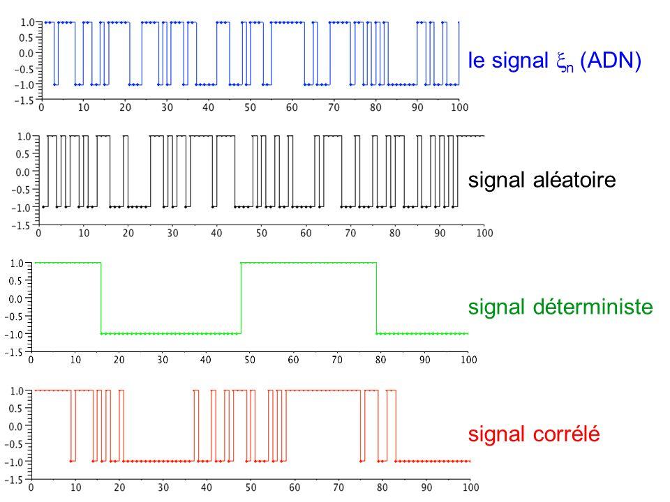 le signal n (ADN) signal aléatoire signal déterministe signal corrélé
