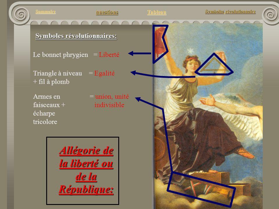 Allégorie de la liberté ou de la République:
