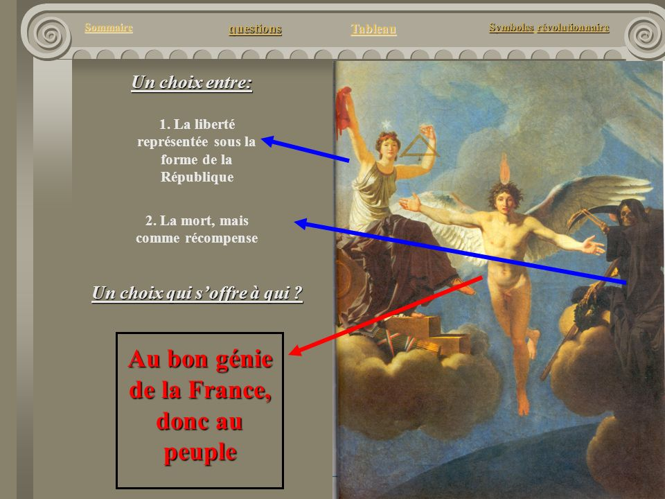 Au bon génie de la France, donc au peuple