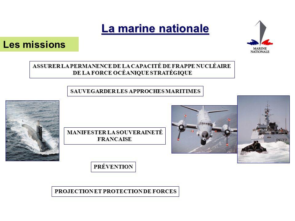 La marine nationale Les missions