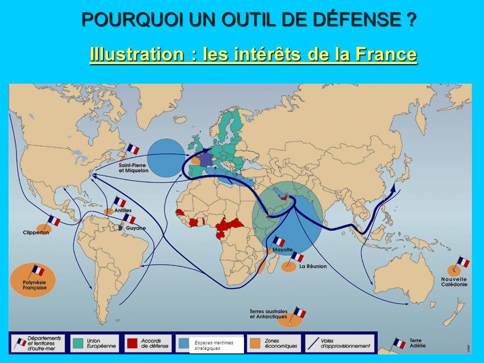 Illustration : les intérêts de la France