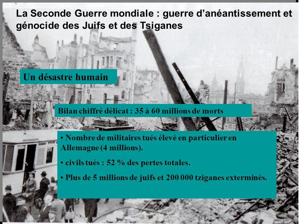La Seconde Guerre mondiale : guerre d'anéantissement et génocide des Juifs et des Tsiganes
