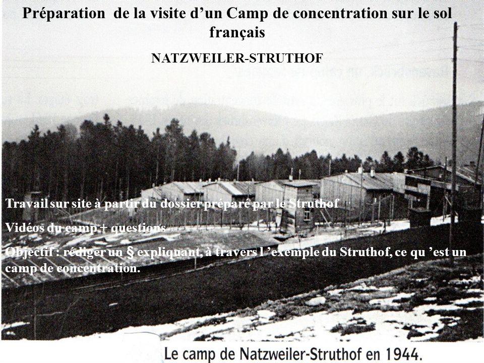 Préparation de la visite d'un Camp de concentration sur le sol français