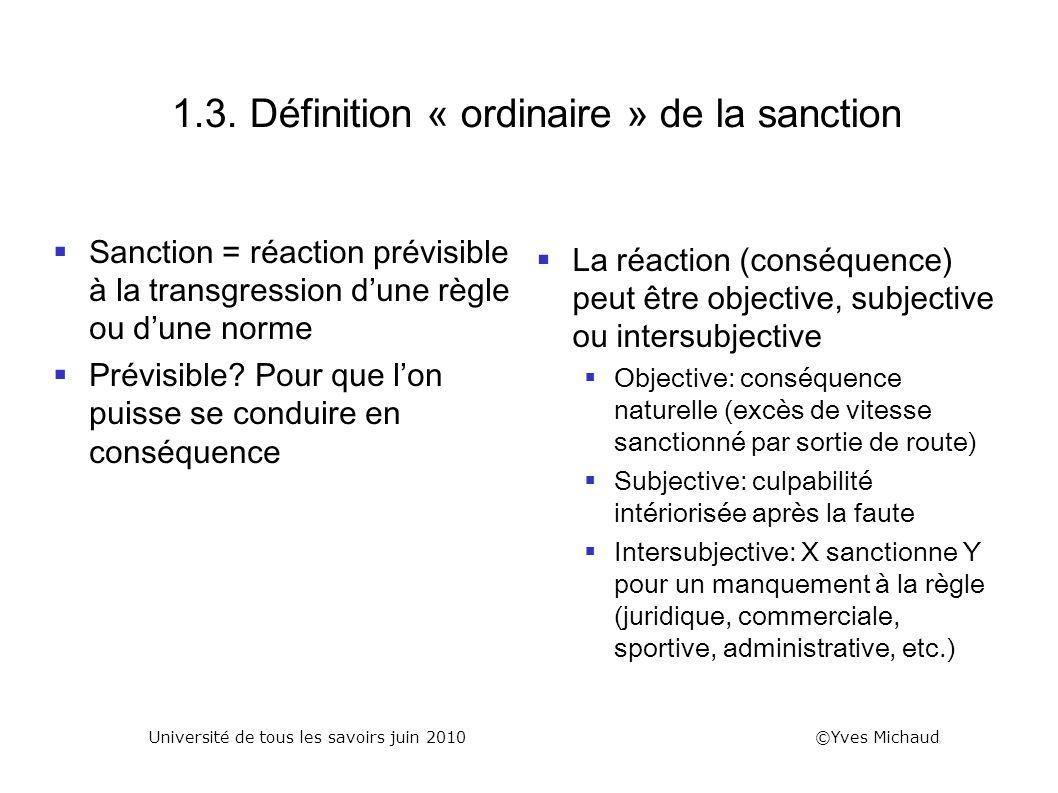 1.3. Définition « ordinaire » de la sanction