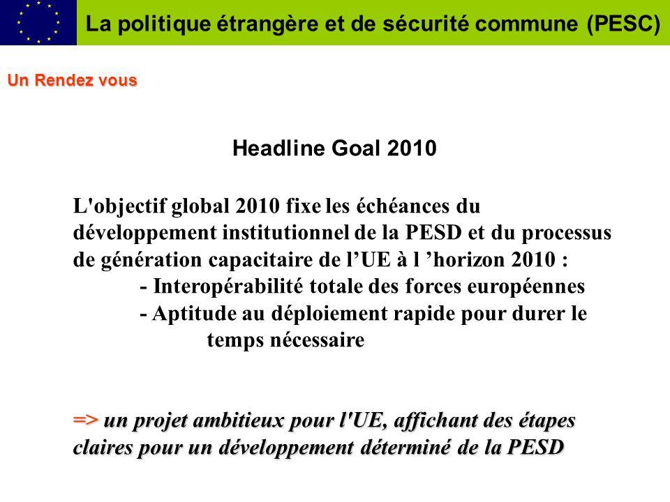 La politique étrangère et de sécurité commune (PESC)