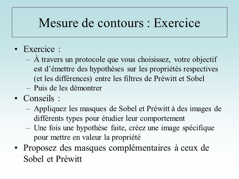 Mesure de contours : Exercice