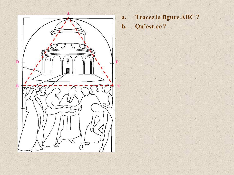 A Tracez la figure ABC Qu'est-ce D E B C