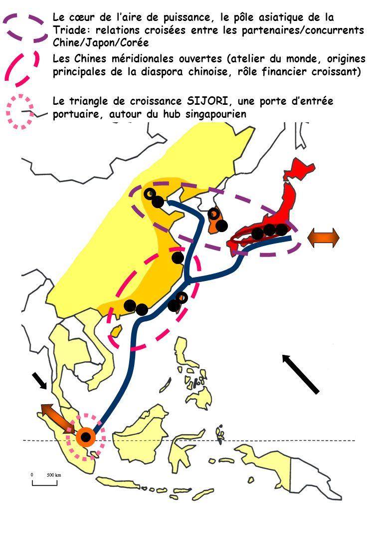 Le cœur de l'aire de puissance, le pôle asiatique de la Triade: relations croisées entre les partenaires/concurrents Chine/Japon/Corée