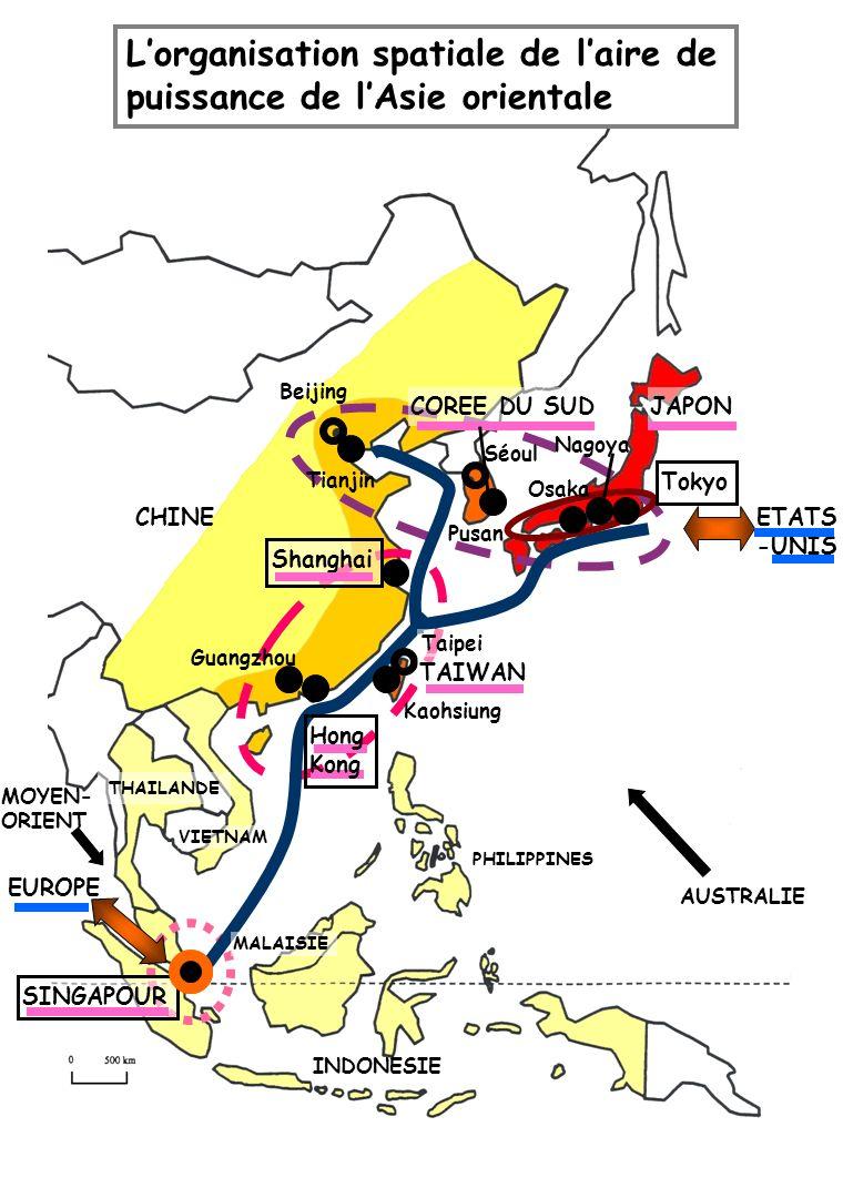 L'organisation spatiale de l'aire de puissance de l'Asie orientale