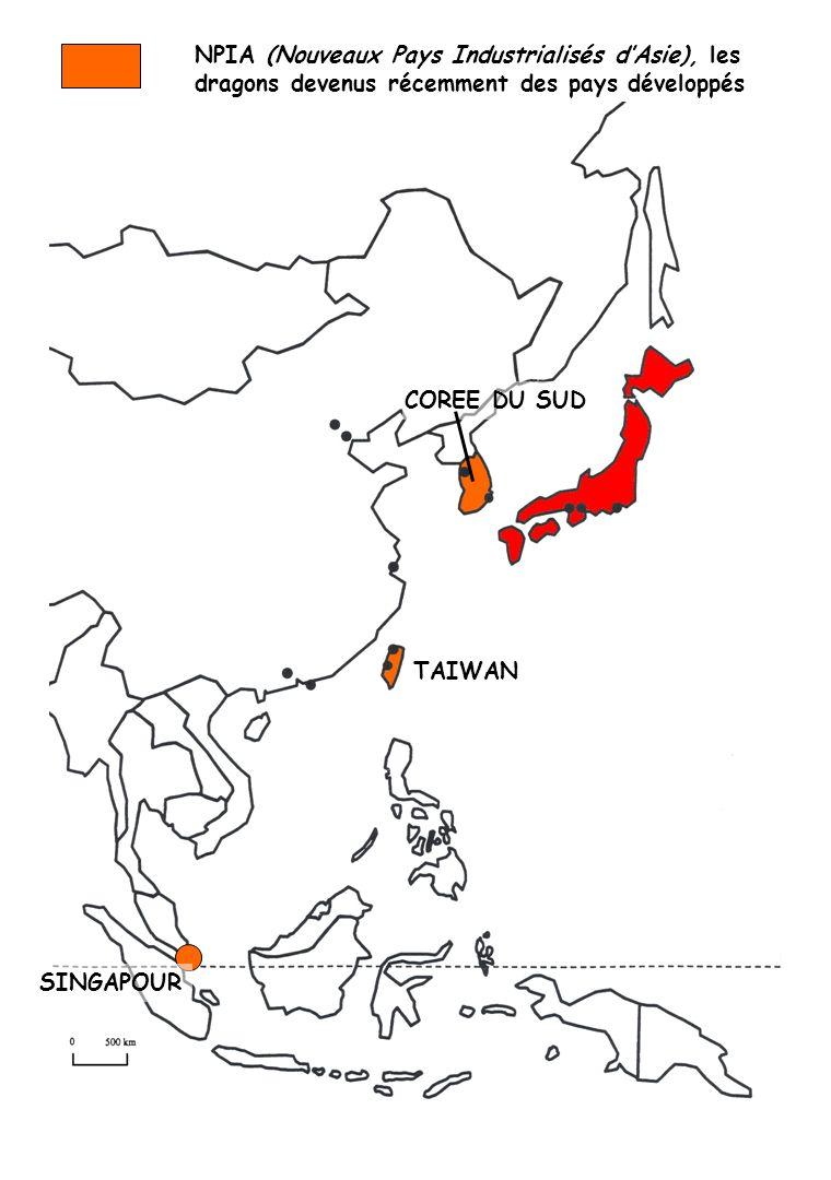NPIA (Nouveaux Pays Industrialisés d'Asie), les dragons devenus récemment des pays développés