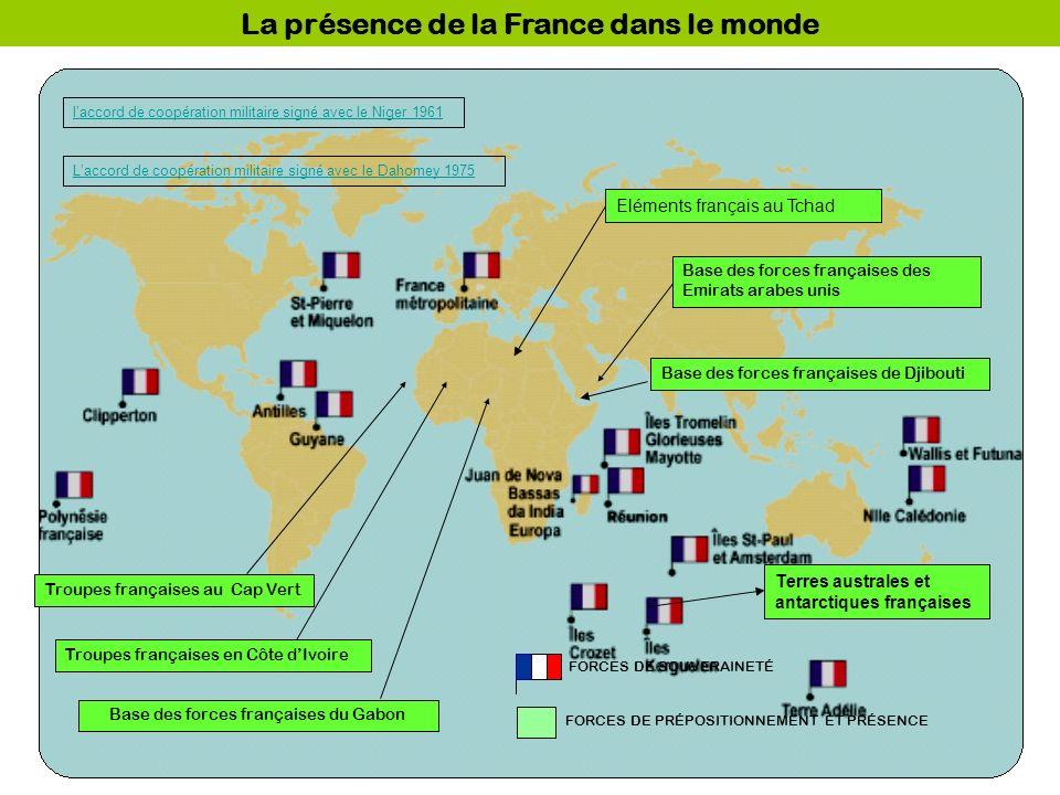 La présence de la France dans le monde