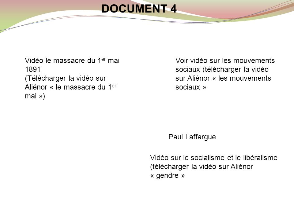 DOCUMENT 4 Vidéo le massacre du 1er mai 1891