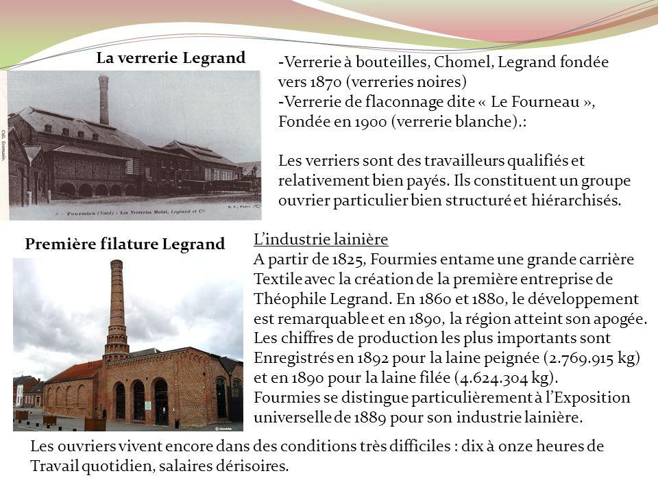 -Verrerie à bouteilles, Chomel, Legrand fondée