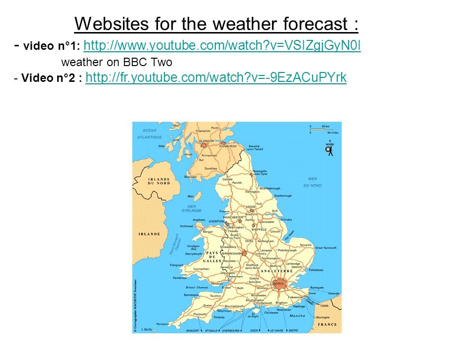 Websites for the weather forecast :