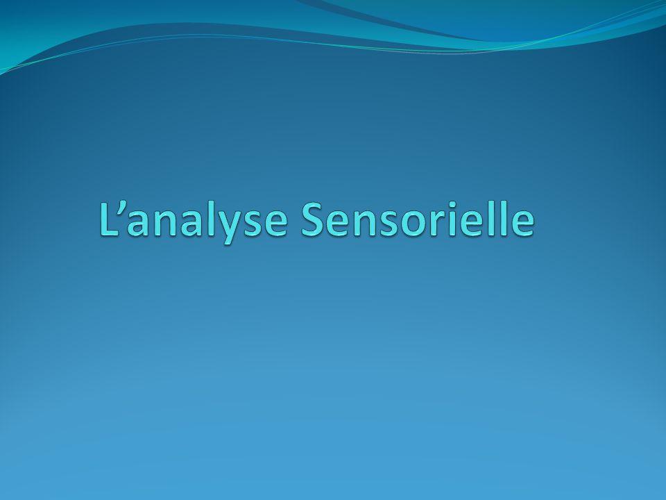 L'analyse Sensorielle