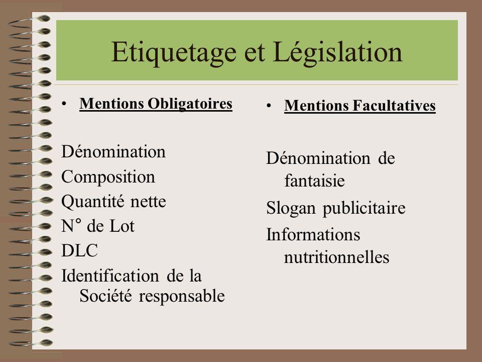 Etiquetage et Législation